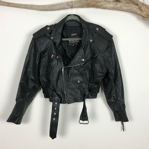 Wilson's Leather Asymmetrical Cropped Motorcycyle